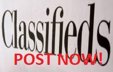 POST NOW!  Free online classified ads - Freeads Free to post - Local and worldwide.