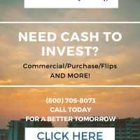 Do you need money for investment properties?