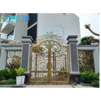 Reasonable Price For Automatic Wrought Iron Gate