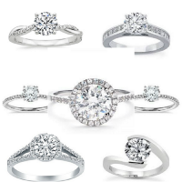 Crusty and Beautiful Engagement Rings